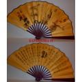 Китайский веер с изображением цветов