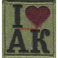 Патч Я люблю АК