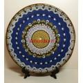 Глиняная тарелка с узором