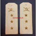 Погоны старшего прапорщика Сухопутных войск для рубашки белого цвета