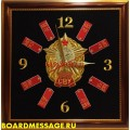 Настенные часы с символикой Суворовских военных училищ